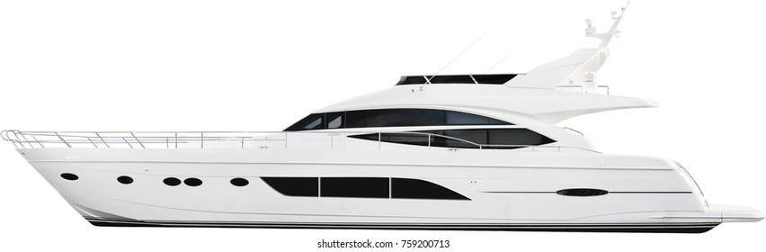 yacht isolated on a white background.