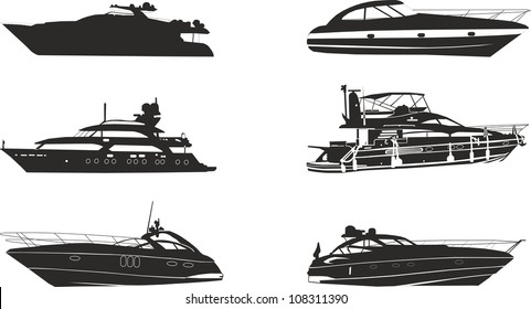 yacht silhouettes