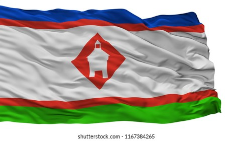 Yakutsk City Flag, Country Russia, Isolated On White Background, 3D Rendering