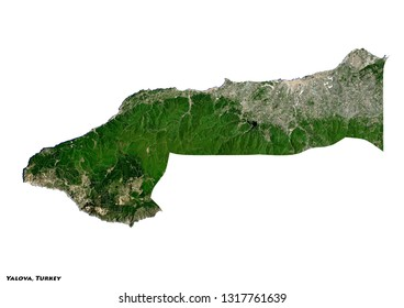 Yalova, Turkey Map (3D illustration)