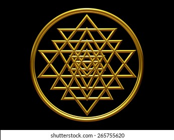 yantra in gold wire