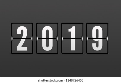 Year 2019 on the Split-Flap Display