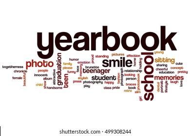 Yearbook word cloud concept