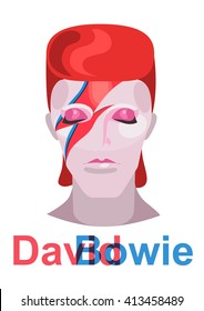 Yekaterinburg/Russia - April 30, 2016: Illustration of David Bowie