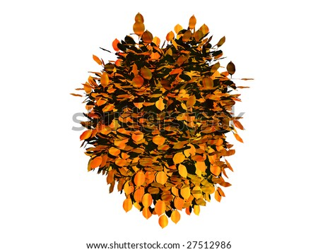 Yellow 3 D Leaves Background Isolated Over Stock Illustration