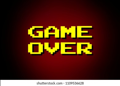 Game Over Images Stock Photos Vectors Shutterstock