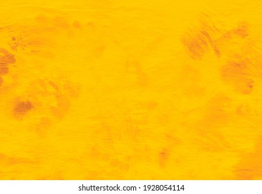 Yellow abstract dirty art. Summer pattern for wallpaper Bright yellow stains. Brushstrokes of paint. Abstract modern art. Contemporary art. Trendy tie dye pattern.