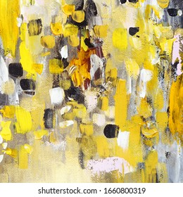 Yellow abstract hand painted background