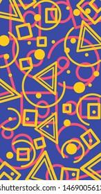 yellow abstrak pattren blue background