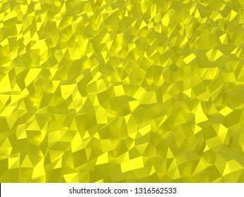 Yellow abstruct polygon backgroung 4k