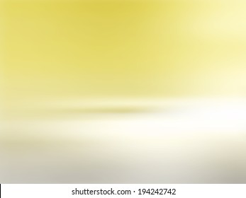 Yellow background gradient fading to grey white - abstract horizon at sunrise