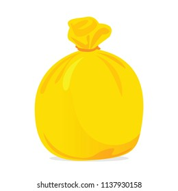 yellow bag plastic waste, garbage bags plastic yellow, yellow plastic trash bag illustration