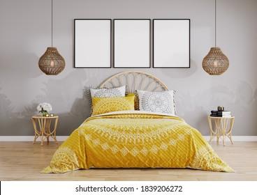 Grey Yellow Bedroom Stock Illustrations Images Vectors Shutterstock