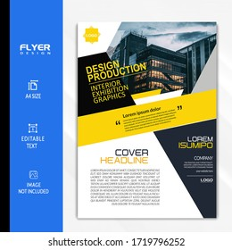 Yellow and Black Business Brochure flyer Design
