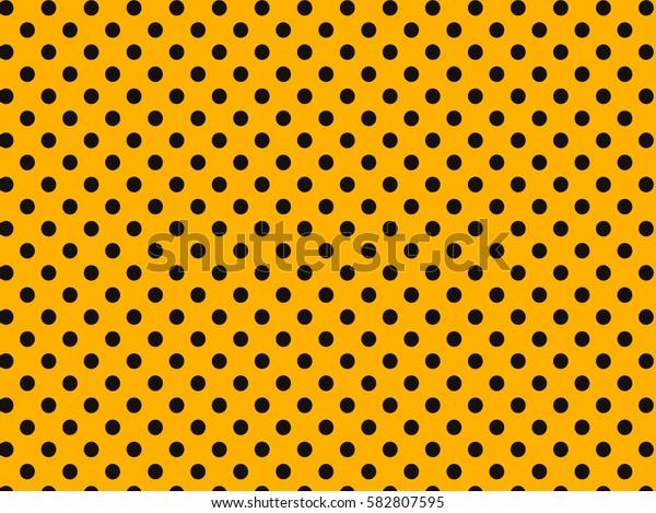 Yellow black dots pattern