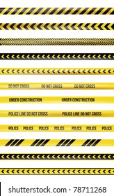Yellow and black police tape