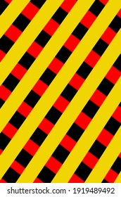 Yellow black red stripes illustration
