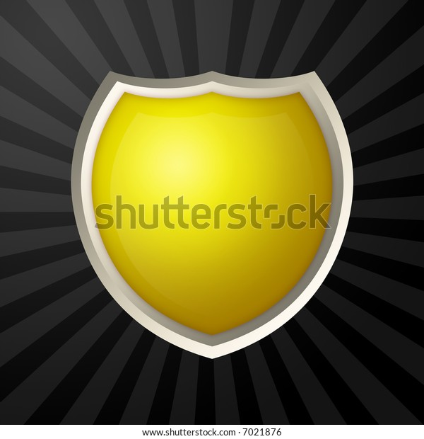 Yellow blank icon with metal border
