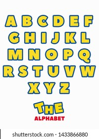 Yellow and Blue ABC Alphabet