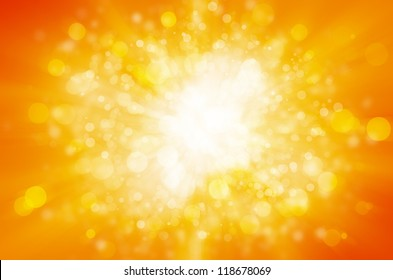 yellow bokeh abstract light background