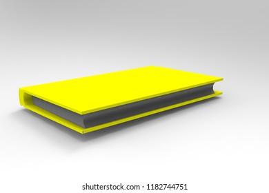 yellow book 3D rendering