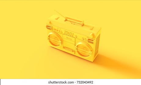 Yellow Boombox / 3d illustration / 3d rendering