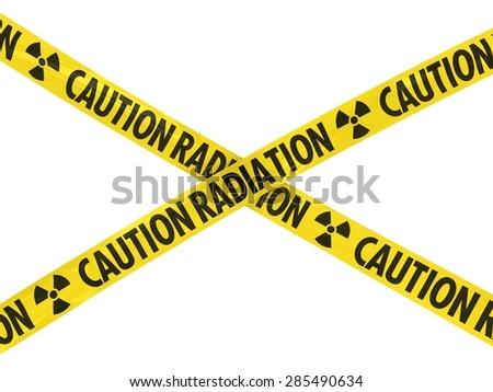 Yellow CAUTION RADIATION Barrier