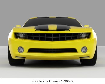 Yellow Chevrolet Camaro Concept 2009