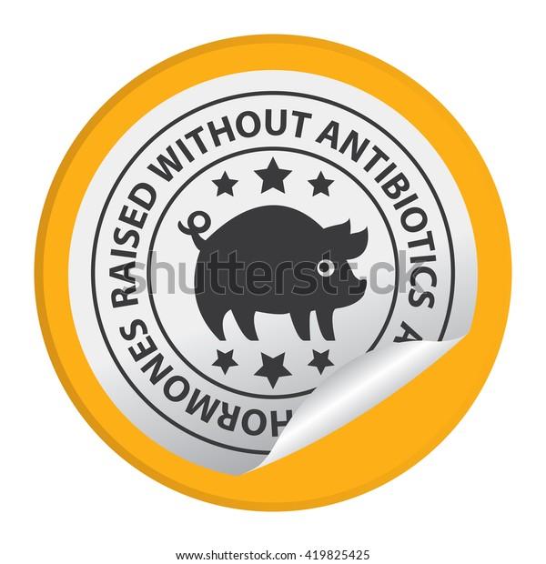 Yellow Circle Raised Without Antibiotics No Stock