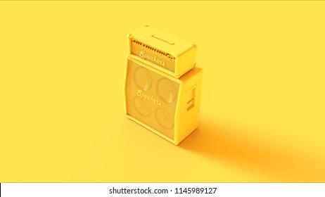 Yellow Concert Speaker 3d illustration