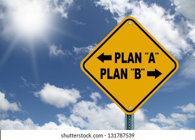 Yellow decision planning sign