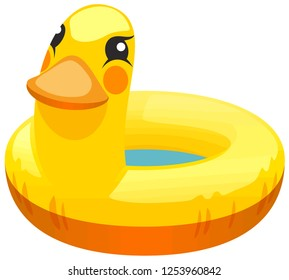 yellow duck floater inflatables safety protection cute illustration