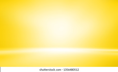 yellow empty room studio gradient used for background and display your product