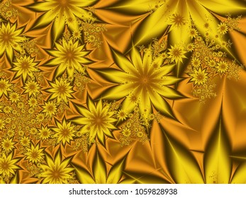 Yellow floral abstact