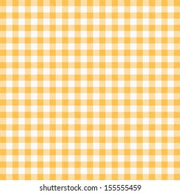 Yellow gingham tablecloth background or texture