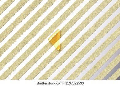 Yellow Glass Caret Left Icon on the Silver Stripe Background. 3D Illustration of Yellow Arrow, Back, Care, Caret, Left, Previous Icon Set With Fur Stripes Silver Background.