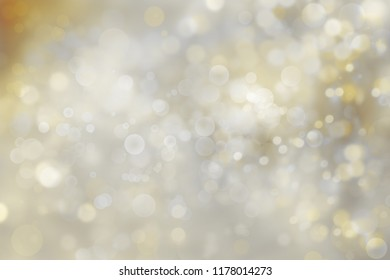 Yellow and gold abstract circles Christmas background