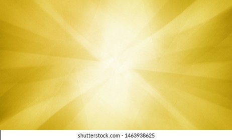 Yellow gold abstract geometric background  blurred triangle shapes layered in abstract modern art design with white shiny center