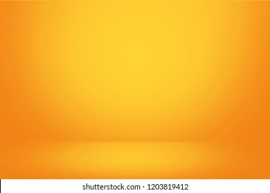 Yellow gradient wall banner and empty studio room background