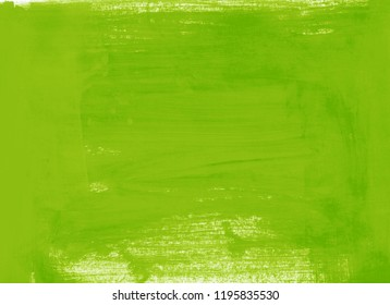 yellow green grassy background with brush strokes. paint paper. watercolor, gouache, acrylic raster  hand drawn illustration for cards, prints and invitations