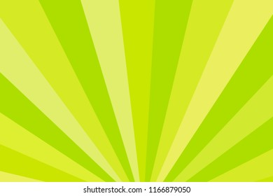 Yellow and green rays. Radial rays abstract background. Colorful background for your design. Raster version.