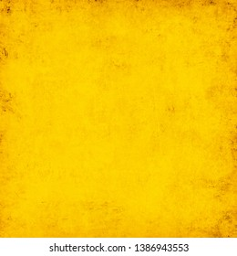 Yellow Grunge Color Background Texture
