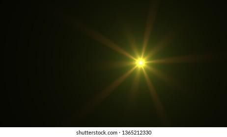 yellow lens flare