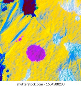 Yellow Multicolor Rasta. Plum Watercolor Psychedelic Splash.  Indigo Neon Tie Dye Gradient. Indigo Hippie Background.