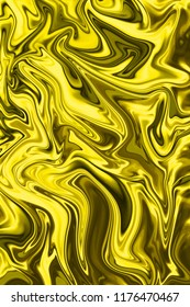 Yellow and ochre digital background from curved lines. Illustration
