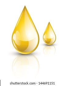 Yellow oil droplets