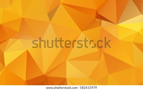 Yellow Orange Abstract Triangular Mosaic Polygonal Background