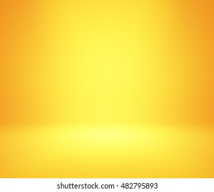yellow and orange gradient abstract background rendering for display or montage your products