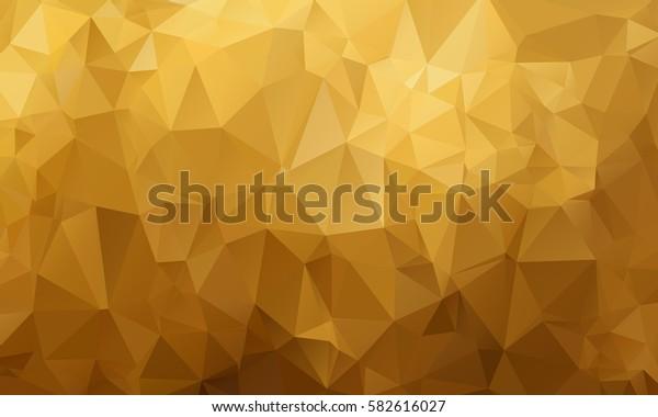 Yellow Orange Multicolor Abstract Triangular Mosaic Polygonal Background