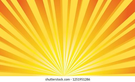 Yellow Orange Rays - sunny background illustration